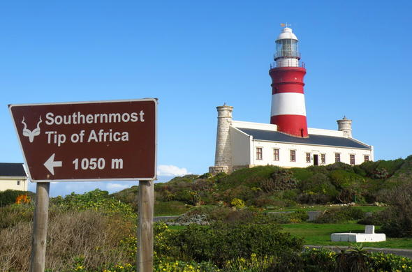 The lighthouse at Agulhas National Park.