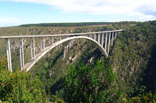 Go bungee jumping off the Bloukrans Bridge.