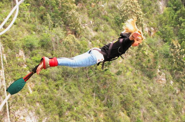 Bungee jump off the Bloukrans Bridge.