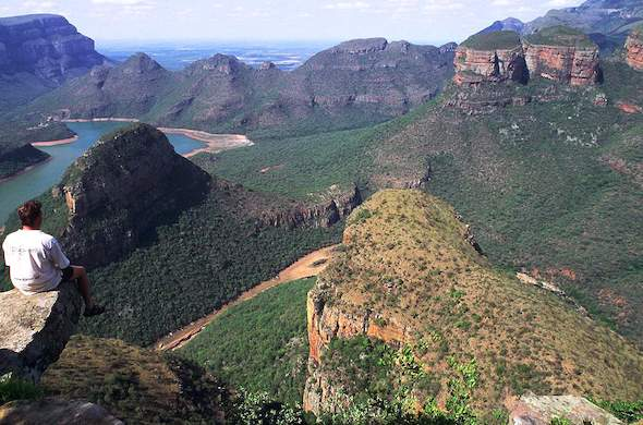 An aerial view of the Panorama Route.
