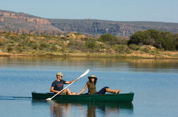 Canoeing activities at Bushmans Kloof Nature Reserve.