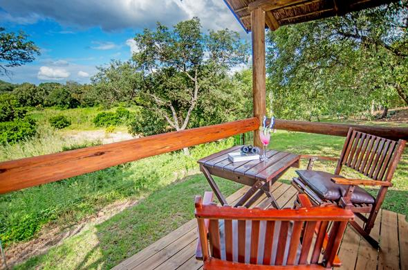 Chisomo Safari Camp balcony with view.