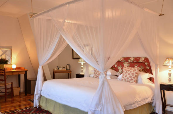 Romantic accommodation in the Figtree Suite in De Hoop Nature Reserve.