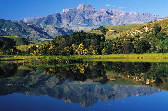 Drakensberg Mountains in KwaZulu-Natal, South Africa.