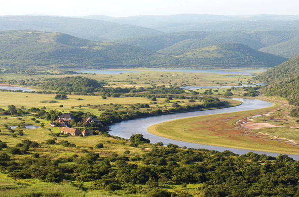 Exterior of Kariega River Lodge in Eastern Cape.