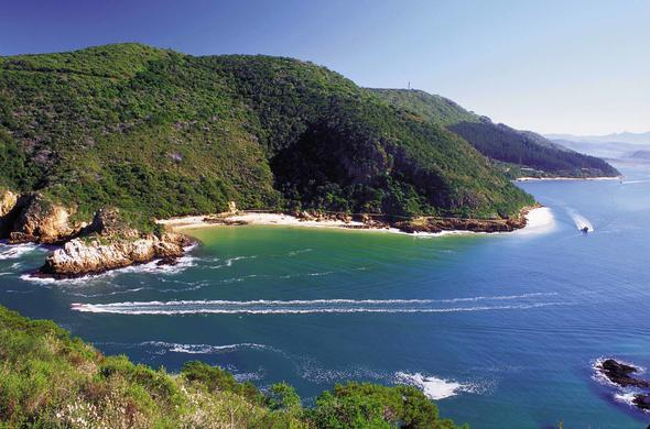 A view of the Garden Route coastline.