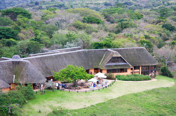 Hilltop Camp in Hluhluwe Game Reserve.
