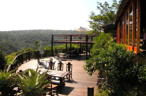 Dine of the Inkwenkwezi Private Game Reserve deck.