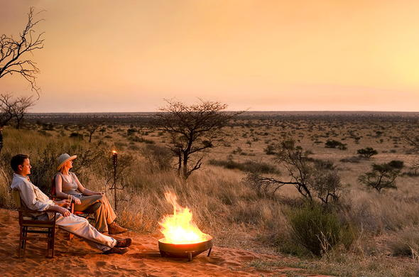 Guests take in the beauty of Tswalu Kalahari Reserve.