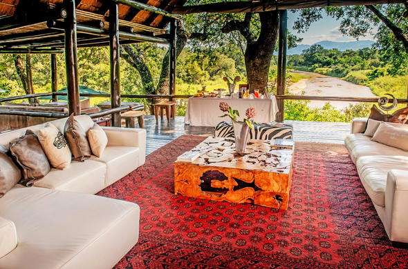 Kuname Lodge at Karongwe Private Game Reserve.