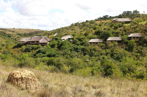 Exterior of the accommodation in Lalibela Game Reserve.