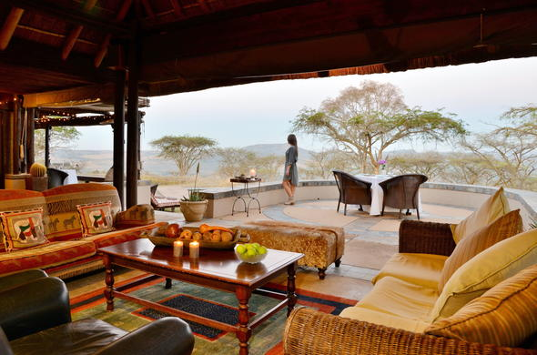 Likweti Lodge has a cosy guest lounge.