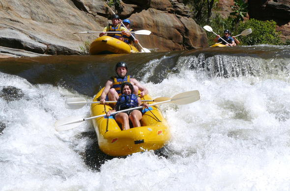 White water rafting adventure on the Lower Blyde River Canyon.