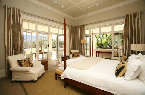 The luxurious bedroom of Manor at Samara.