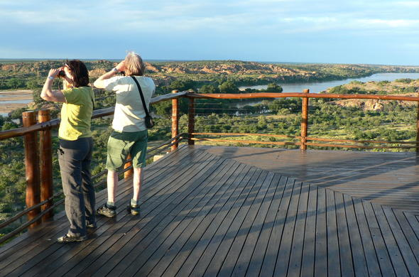Viewing deck with scenic views at Mapungubwe National Park.