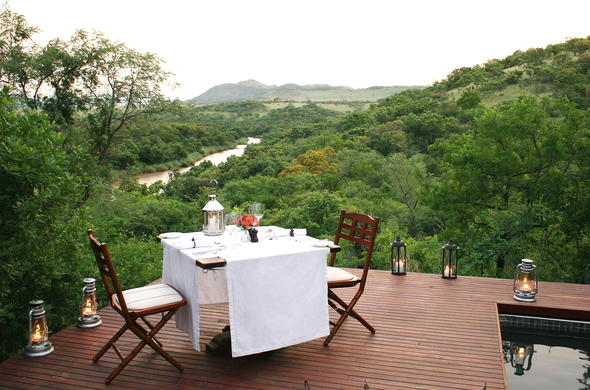 Private dinners can be arranged at Nkomazi Game Reserve.