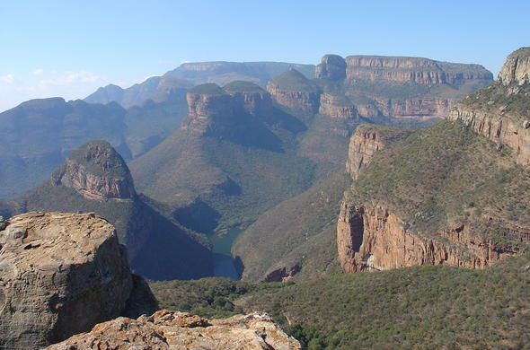 Three Rondawels Panorama Route near Blyde River Canyon.