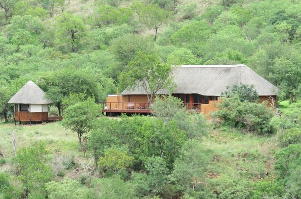 Exterior of the Mvubu River Lodge accommodation.