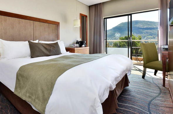 Protea Hotel Clarens bedroom with lovely views.