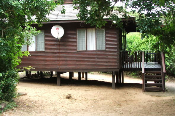Exterior of the cabin at Sodwana Bay Camp.
