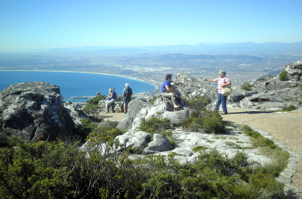 Views from Table Mountain National Park in Cape Town.