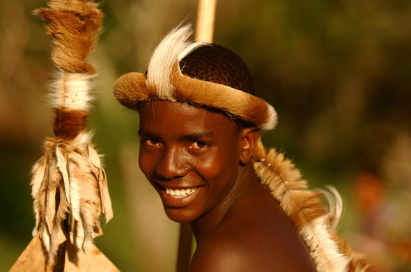 Zulu tribesman from the local village.