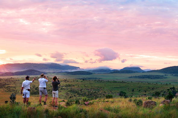 Stunning sunset views at Welgevonden Private Game Reserve.