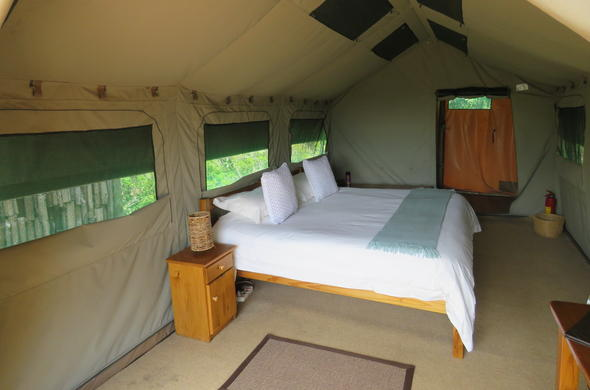 Inside the comfortbale tents at Woodbury Tented C&. & Amakhala Game Reserve | Lodges Tented Camps Country House ...